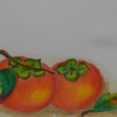 朱色/フォロー大歓迎/柿 もう秋 ボランティア先の方に 秋を届けた…