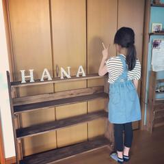 本棚DIY/収納/DIY/住まい/100均 HANAちゃん親子と本棚作りました〜 上…
