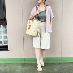 guコーデ/ママコーデ/今日のコーデ/プチプラコーデ/通勤コーデ/ファッション GUのエアリーシャツは、1枚で着ても◎だ…(1枚目)