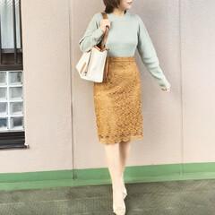ユニクロコーデ/今日のコーデ/ママコーデ/プチプラコーデ/ファッション ミントグリーンとキャメルの色合わせ🍪🌱 …