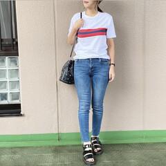 通勤コーデ/ママコーデ/今日のコーデ/プチプラコーデ/ファッション GAPのTシャツを、ZARAのスキニーデ…(1枚目)