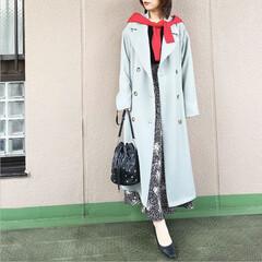 ユニクロコーデ/今日のコーデ/プチプラコーデ/ママコーデ/guコーデ/ファッション モノトーンコーデに、ミントグリーンのトレ…