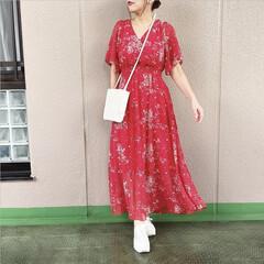 通勤コーデ/ファッション/今日のコーデ/プチプラコーデ/ママコーデ 紅白で派手カワコーデ❤️♡ fifthの…