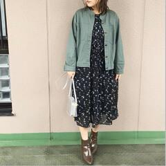 ママコーデ/プチプラコーデ/今日のコーデ/ユニクロコーデ/ファッション ユニクロの小花柄シフォンワンピースを、ミ…