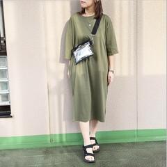 通勤コーデ/ママコーデ/プチプラコーデ/今日のコーデ/ファッション ワンマイルウェアにもぴったりなTシャツワ…