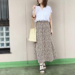 ママコーデ/プチプラコーデ/今日のコーデ/ファッション/ユニジョ ユニクロのクレープジャージースカートに、…