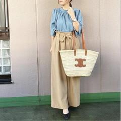 ママコーデ/今日のコーデ/通勤コーデ/プチプラコーデ/ファッション ブルー×ベージュ💙 好きな色合わせ…