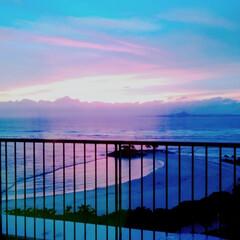夕方の空/海が見える/景色/旅の思い出/風景/旅 2年前の今頃、修学旅行でホテルから見たこ…