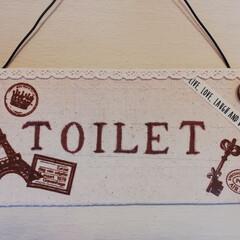 令和の一枚/トイレ/DIY/令和元年フォト投稿キャンペーン 令和最初のDIY がトイレの看板っていう…(1枚目)