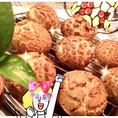 クッキーシュークリーム クッキーシュー 普通のシューの上にクッキ…(2枚目)