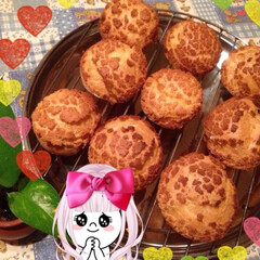 クッキーシュークリーム クッキーシュー 普通のシューの上にクッキ…(3枚目)