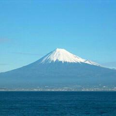 富士山/風景 船の上から富士山  今回は富士山は顔を出…