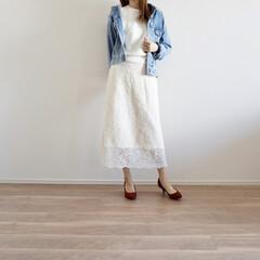 値下げ/レーススカート/プチプラ/GU/ジーユー/ファッション レースのスカートが上品なGUのスカート✨…