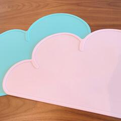 KG Design シリコンマット ランチョンマット お食事 プレイスマット ピンク(ベビー食器)を使ったクチコミ「子供達のランチョンマット✨ 形が可愛くて…」