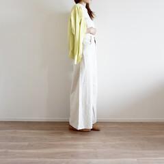 カーディガン/ワイドパンツ/GU/コーデ/ファッション/UNIQLO/... カーディガンがポイントになるコー…