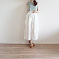 ノースリーブ/プチプラ/ファッション/コーデ/UNIQLO/スカート/... GUの人気ノースリーブは990‼️ プチ…