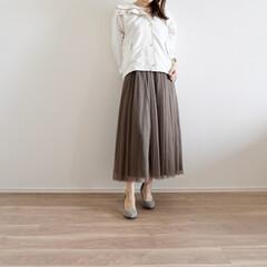マウンテンパーカーコーデ/ジーユー/GU/春コーデ/マウンテンパーカ/ファッション お店ではほとんど見かけない白のマウンテン…