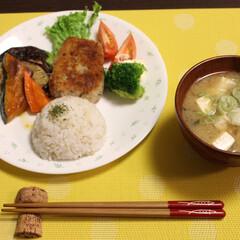 香草パン粉焼き/ワンプレート/野菜の焼き浸し マグロの香草パン粉焼きと お昼に作ってお…