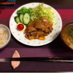 わたしのGW 本日は生姜焼き定食!  コープのイチゴア…(1枚目)