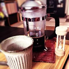 フレンチプレス/デカフェ/カフェインレスコーヒー フレンチプレスでカフェインレス。授乳中だ…