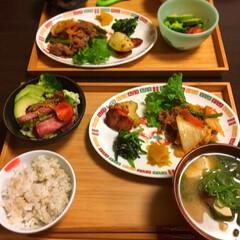 肉野菜炒め/ハーゲンダッツ 今日は肉野菜炒め定食!  夫にもらった賄…