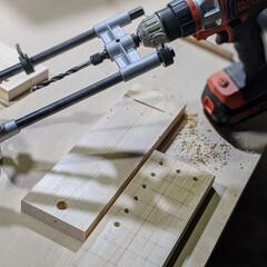 端材DIY/端材/簡単DIY/日曜大工/集成材/DIY ドーモ!いや〜さすがに同じ動作を4時間ほ…(4枚目)