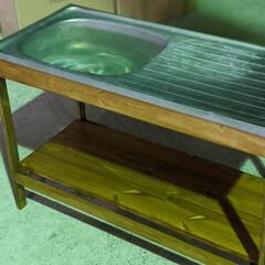 流し台フレーム/シンク/端材DIY/端材/簡単塗装/塗装/... ドーモ!今日は朝からまとまった雨が降りま…(2枚目)