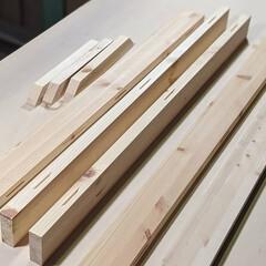 パイン集成材/パイン/集成材/木工/アイアンベンチ脚/ベンチ/... ドーモ!今日は朝から頭が重い、目が痒い、…(2枚目)