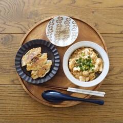 リミアな暮らし/ズボラ主婦/テーブルコーディネート/レシピ/ランチ/昼ごはん/... 晩の残りもので昼ごはん  餃子って作ると…