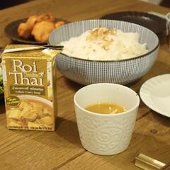 千段十草6.0ボール(鉢、ボウル)を使ったクチコミ「素麺アレンジで、ロイタイのイエローカレー…」