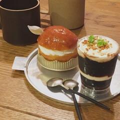 クチポール CUTIPOL コーヒースプーン ティースプーン GOA ゴア GO.11 シルバー×ブラック | クチポール(スプーン)を使ったクチコミ「夜のコーヒーブレイク  仕事を持ち帰った…」