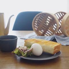 月兔 ホーロースリムポット 0.7L キャメル | 月兎印(ヤカン、ケトル)を使ったクチコミ「朝から雨 朝ごはんを食べながら、昨日使っ…」