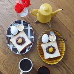 おうちごはんクラブ/おうちごはん/グルメ/ごはん/朝ごはん/朝ごはんレシピ/... 無性に食べたくなって小倉トーストで朝ごは…