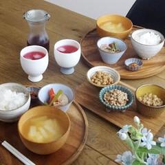 器のある暮らし/うつわ日和/うつわ/食器/定食スタイル/おうちごはんクラブ/... 今更ですが、7月10日は納豆の日でしたね…