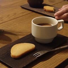 柳宗理 デザートフォーク | 柳宗理(フォーク)を使ったクチコミ「いただいたスイートポテトを食後に 夜遅め…」