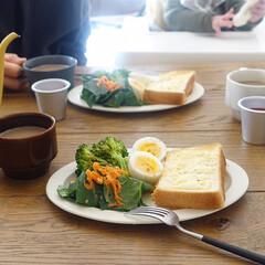 朝ごはん/リミアな暮らし/LIMIAFESTA/暮らし ほうれん草のサラダと茹で卵には薫製ナッツ…