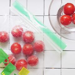 離乳食/暮らし/トマト/冷凍/100均/ダイソー/... トマトは丸ごと冷凍できると知って、洗った…