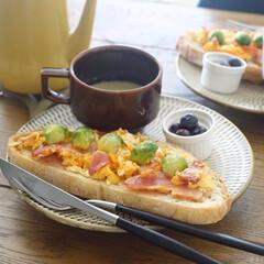 クチポール CUTIPOL デザートナイフ GOA ゴア GO.06 シルバー×ブラック | クチポール(テーブルナイフ)を使ったクチコミ「ピカールのミックス野菜のポタージュを添え…」