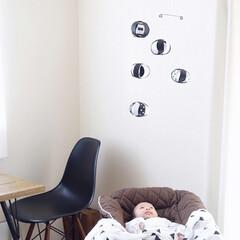 モビール/キャンドゥ/100均/ハンドメイド/住まい/リミアな暮らし 100均の画用紙で赤ちゃんにモビールを作…