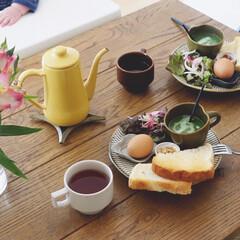花のある暮らし/うつわ日和/リミアな暮らし/テーブルコーディネート/朝ごはん/キッチン雑貨/... ほうれん草と玉ねぎのポタージュで朝ごはん…