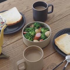 食器 ハサミポーセリン 波佐見焼 ボウル Mサイズ HASAMI PORCELAIN 即日出荷可能 | HASAMI(皿)を使ったクチコミ「温野菜もりもりで朝ごはん  ブロッコリー…」