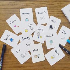 カリグラフィー/筆ペン/暮らし/選び取り/1歳バースデー/バースデー/... 息子の一歳の誕生日に使う選びとりカードを…