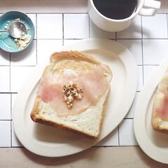 クチポール Cutipol GOAシリーズ マットシルバー デザートスプーン CT-GO-08   クチポール(スプーン)を使ったクチコミ「今日の朝ごはん トーストした食パンにクリ…」