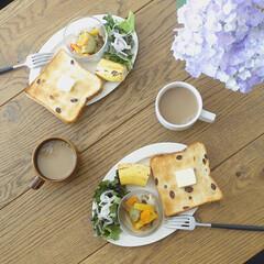 Cutipol クチポール GOA Black ゴア ブラック Dinner fork ディナーフォーク | クチポール(フォーク)を使ったクチコミ「昨日たっぷり仕込んだラタトゥユで朝ごはん…」