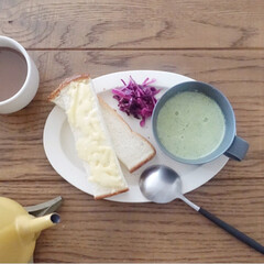 器のある暮らし/リミアな暮らし/野菜料理/朝ごはんレシピ/朝ごはん/LIMIAFESTA/... 離乳食で余ったブロッコリーを味付けしてポ…