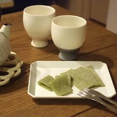 TY スクエア プレート 130 ホワイト 1616 arita japan 有田焼 磁器 柳原照弘 キャッシュレス還元(皿)を使ったクチコミ「旦那さんから珍しいお土産 「抹茶の生八つ…」