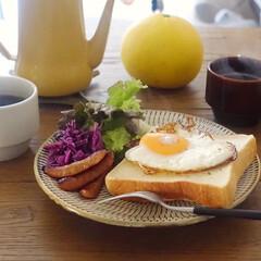 モーニング/朝ごはん/器のある暮らし/LIMIAFESTA/キッチン雑貨/住まい/... ラピュタパンで朝ごはん。  ウィンナー …