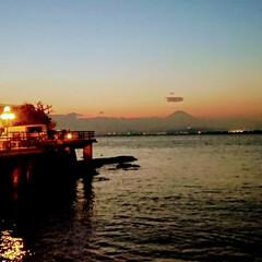 風景/はじめてフォト投稿 江ノ島歩き 夕景の富士