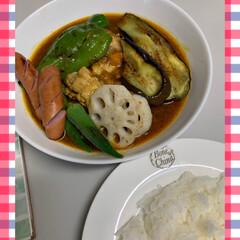 スープカレー/ご飯 スープカレー💕 去年北海道に行って、初め…