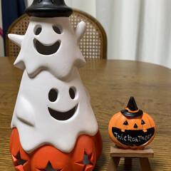 200円商品/かぼちゃちゃん小物/オバケちゃんライト/ハロウィングッズ/ダイソー オバケちゃんライト💕 リミアの皆さんが買…